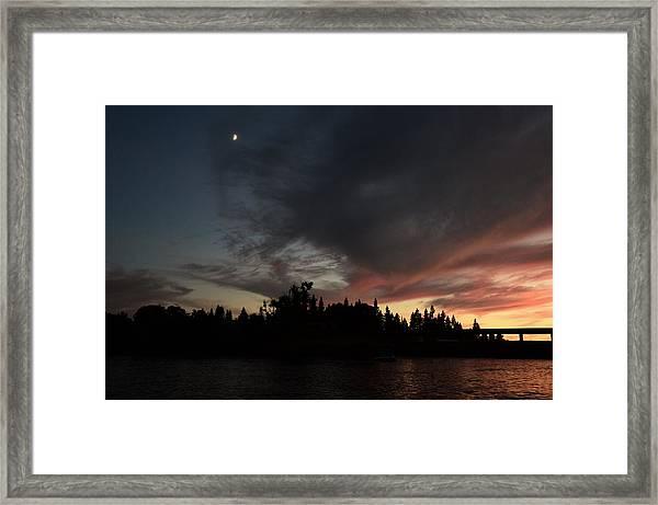 The Dark Side Of The Sunset Framed Print