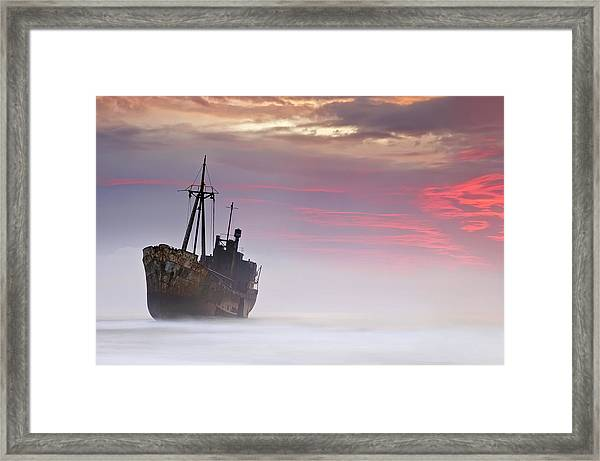 The Dark Traveler Framed Print by Mary Kay