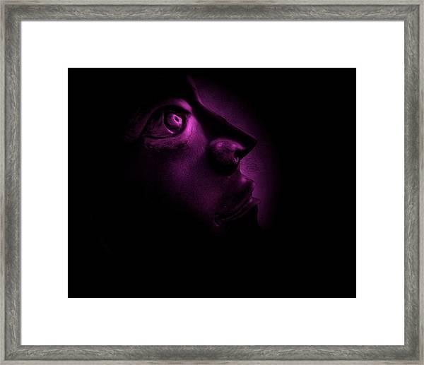 The Darkest Hour - Magenta Framed Print