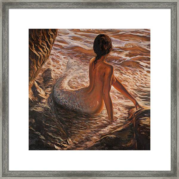 The Daughter Of The Sea Framed Print
