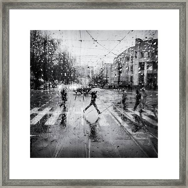 The Decisive Leap Framed Print by Costas Economou