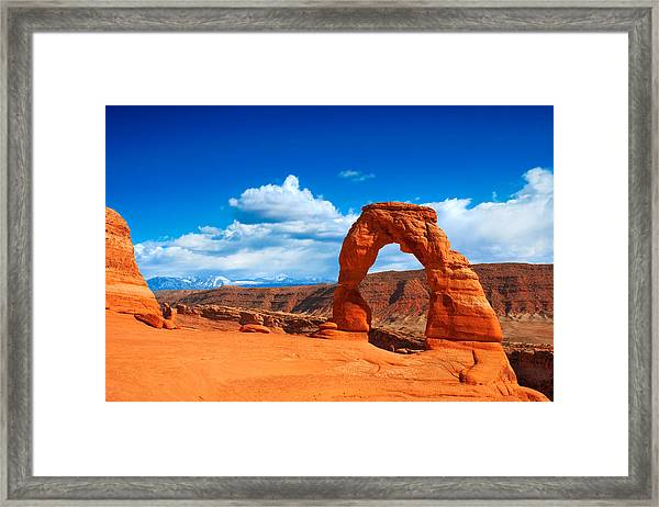 The Delicate Arch Framed Print