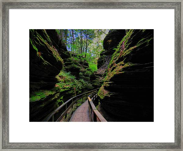 Framed Print featuring the photograph The Dells 044 by Lance Vaughn