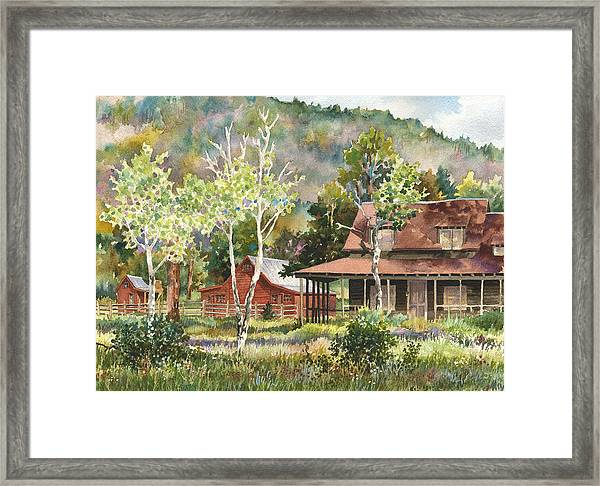 The Delonde Homestead At Caribou Ranch Framed Print
