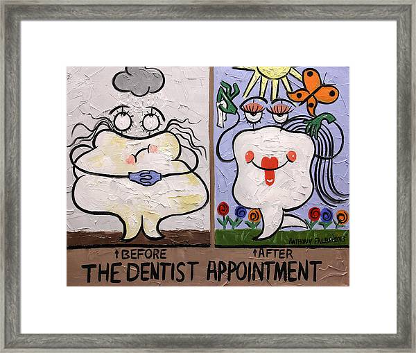 The Dentist Appointment Dental Art By Anthony Falbo Framed Print