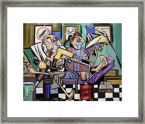 The Dentist Is In Root Canal Framed Print