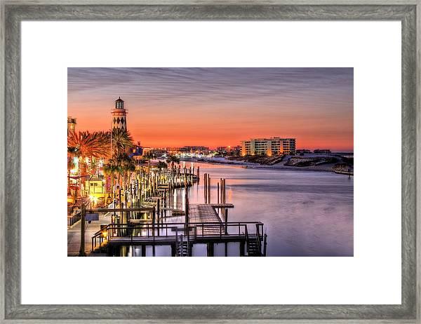 The Destin Harbor Walk Framed Print