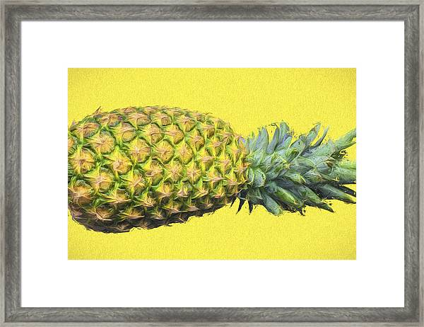 The Digitally Painted Pineapple Sideways Framed Print