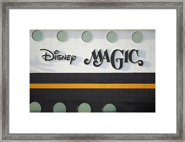 The Disney Magic Portholes Framed Print