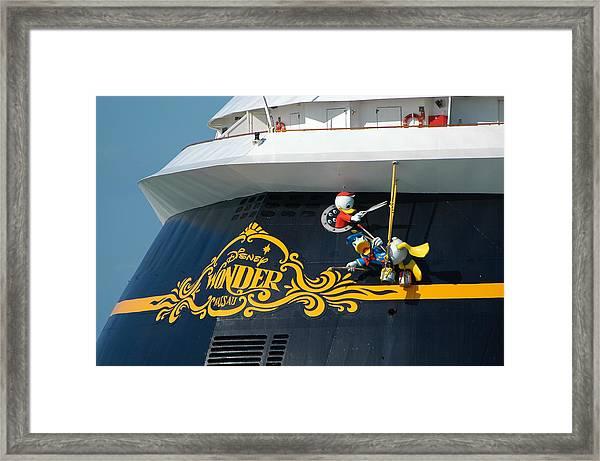 The Disney Wonder Framed Print
