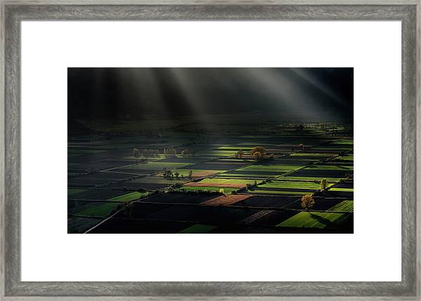 The Divine Spotlights Framed Print
