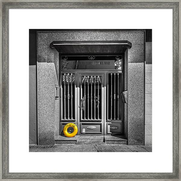 The Doorway. Framed Print