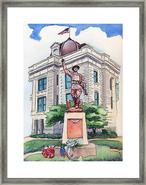 The Doughboy Statue Framed Print
