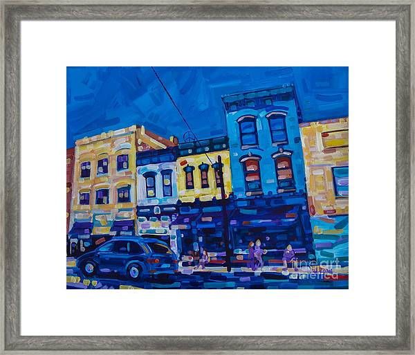 The Downtown Framed Print
