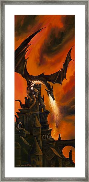 The Dragon's Tower Framed Print