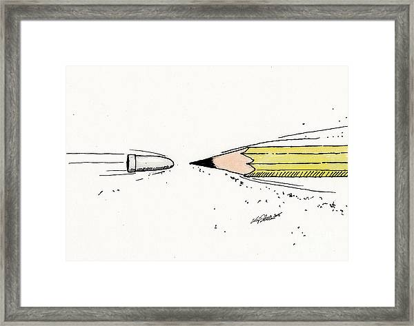 The Draw Framed Print
