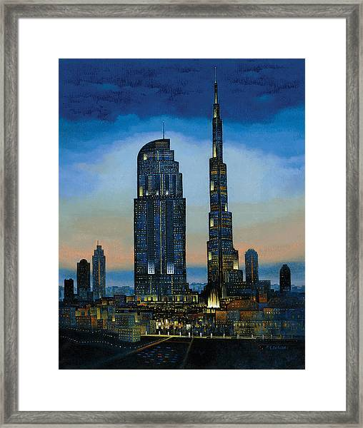 The Dream City Framed Print