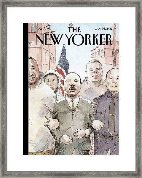 The Dream Of Reconciliation Framed Print by Barry Blitt