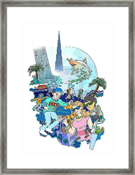 The Dubai Mall-sky Is The Limit Framed Print