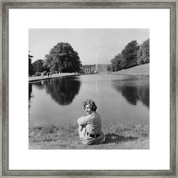The Duchess Of Devonshire At Devonshire Palace Framed Print