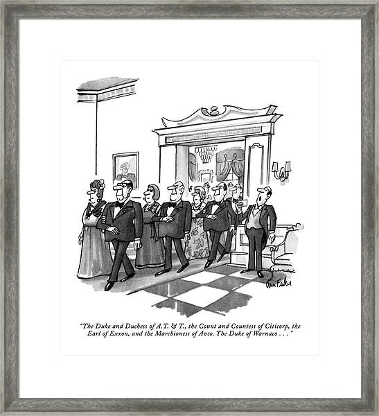 The Duke And Duchess Of A.t. & T Framed Print