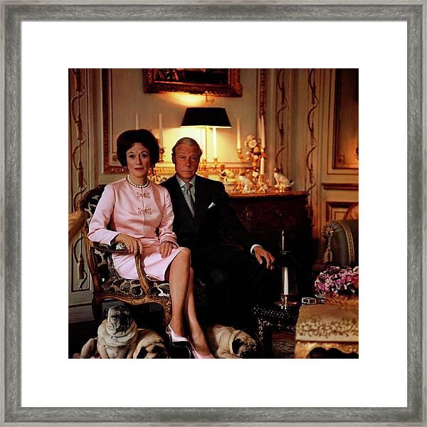 The Duke And Duchess Of Windsor In Their Paris Framed Print by Horst P. Horst