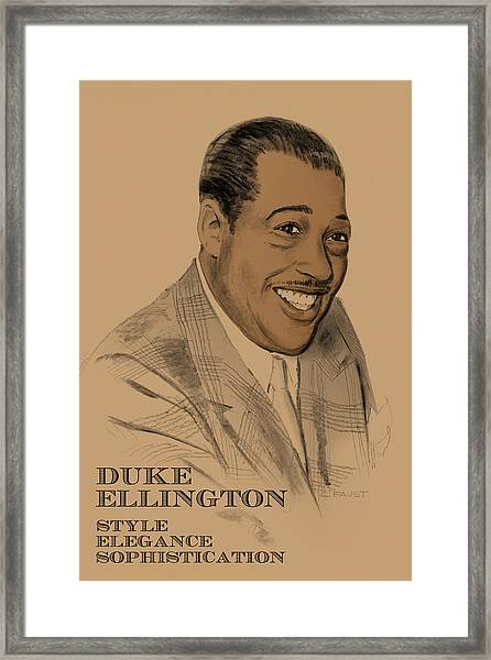 The Duke Framed Print