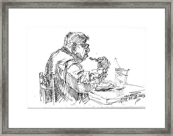 The Eater Framed Print