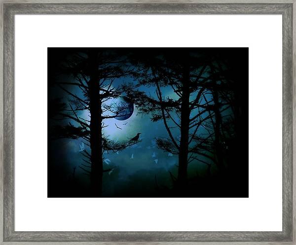 The Edge Of Twilight  Framed Print