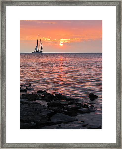 The Edith Becker Sunset Cruise Framed Print