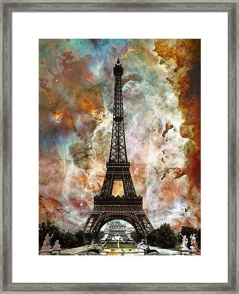 The Eiffel Tower - Paris France Art By Sharon Cummings Framed Print