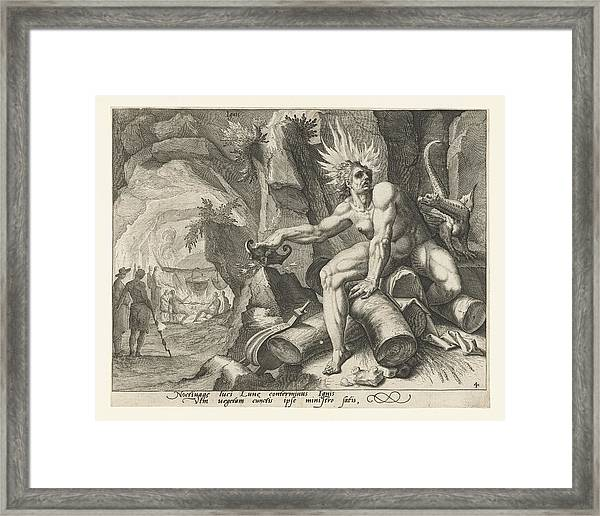 The Element Of Fire, Attributed To Jacob De Gheyn II Framed Print by Attributed To Jacob De Gheyn (ii)