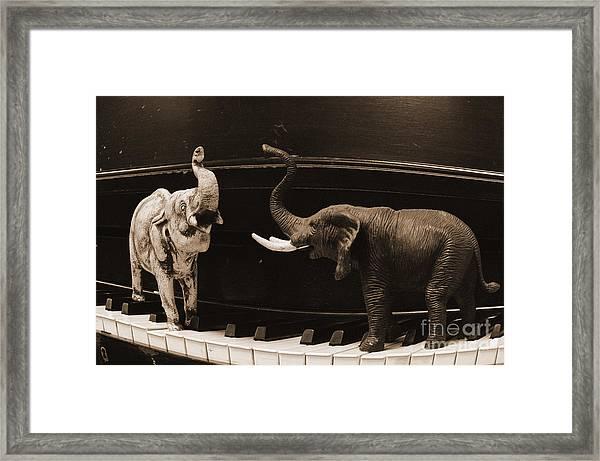 The Elephant Walk Framed Print