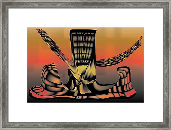 The Ember Tree Framed Print