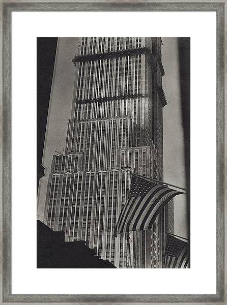 The Empire State Building In New York City Framed Print by Sherril Schell