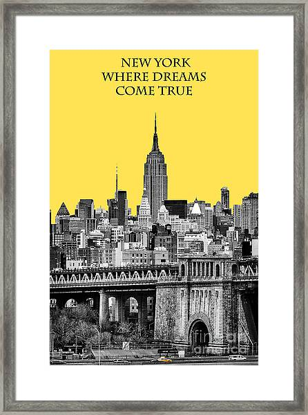 The Empire State Building Pantone Yellow Framed Print