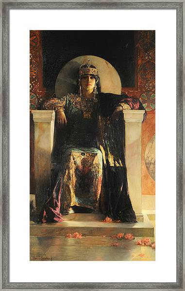 Framed Print featuring the painting The Empress Theodora by Jean-Joseph Benjamin-Constant