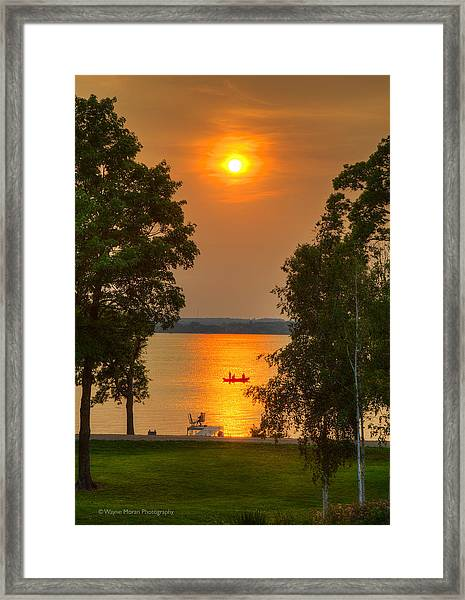 The End Of A Perfect Day Framed Print