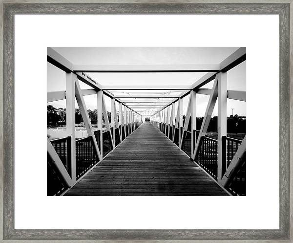The End Of The Bridge Framed Print