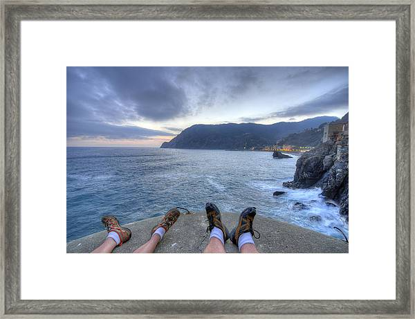 The End Of The Day In Monterosso Framed Print