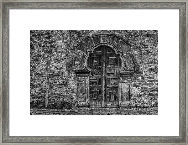 The Mission Door Framed Print