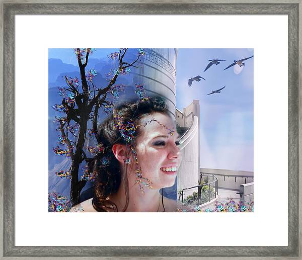 The Essence Of Eliza Uncolored Framed Print