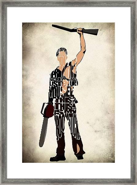 The Evil Dead - Bruce Campbell Framed Print