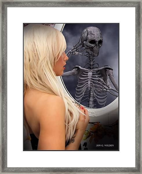 The Evil Mirror Framed Print