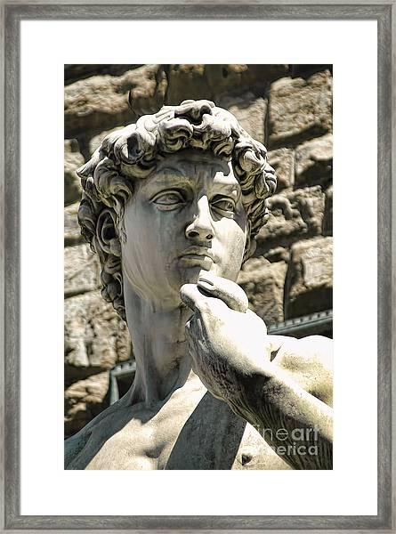 The Face Of David Framed Print