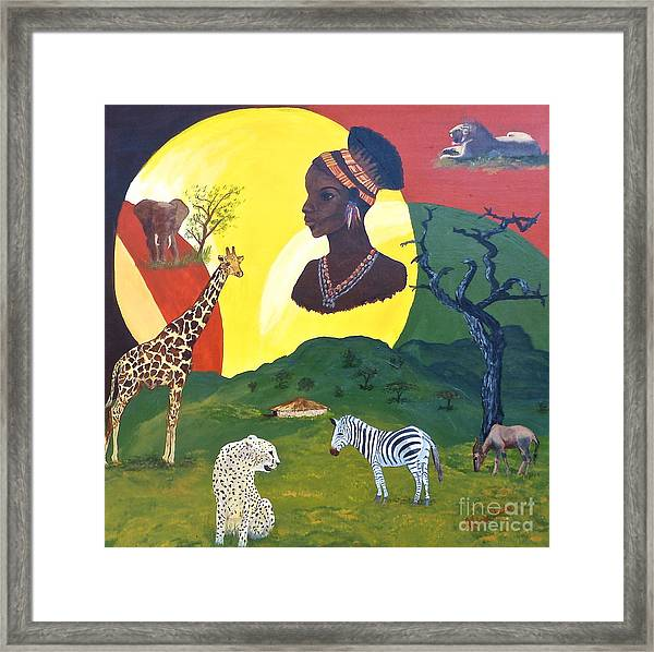 The Faces Of Africa Framed Print