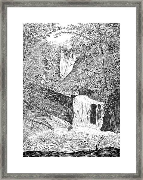 The Falls II Framed Print