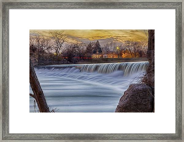 The Falls Of White River Framed Print