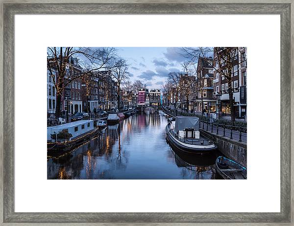 The Famous Canal In Amsterdam At Nightfall In The Netherlands by @ Didier  Marti