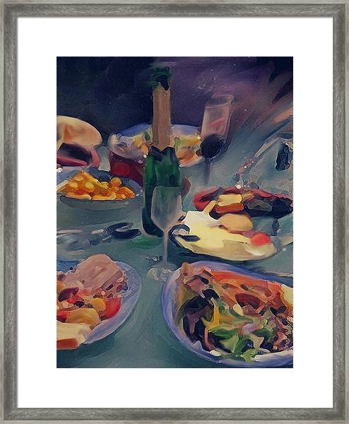 The Feast Framed Print